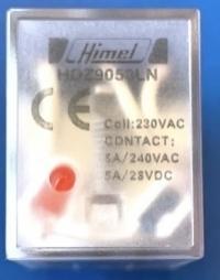 HIMEL PLUG IN RELAY 11PIN 230VAC 5A 3C/O WITH LED HDZ9053LNR