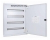 ALFANAR Modular Distribution Board DB 24 Modules 5 Row Flush Type RAL 9010 White 45-524MS00FW