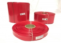 POWERMAT PVC HEAT SHRINKABLE SLEEVE  Thickness 0.17 mm , 17mm RED