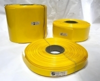 POWERMAT PVC HEAT SHRINKABLE SLEEVE  Thickness 0.17mm , 20mm YELLOW