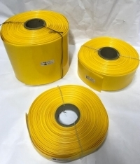 POWERMAT PVC HEAT SHRINKABLE SLEEVE  Thickness 0.17mm , 30mm YELLOW