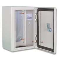 ALFANAR Metal Enclosure 300x250x200 IP66 with mounting and gland plates 47-SB302520D